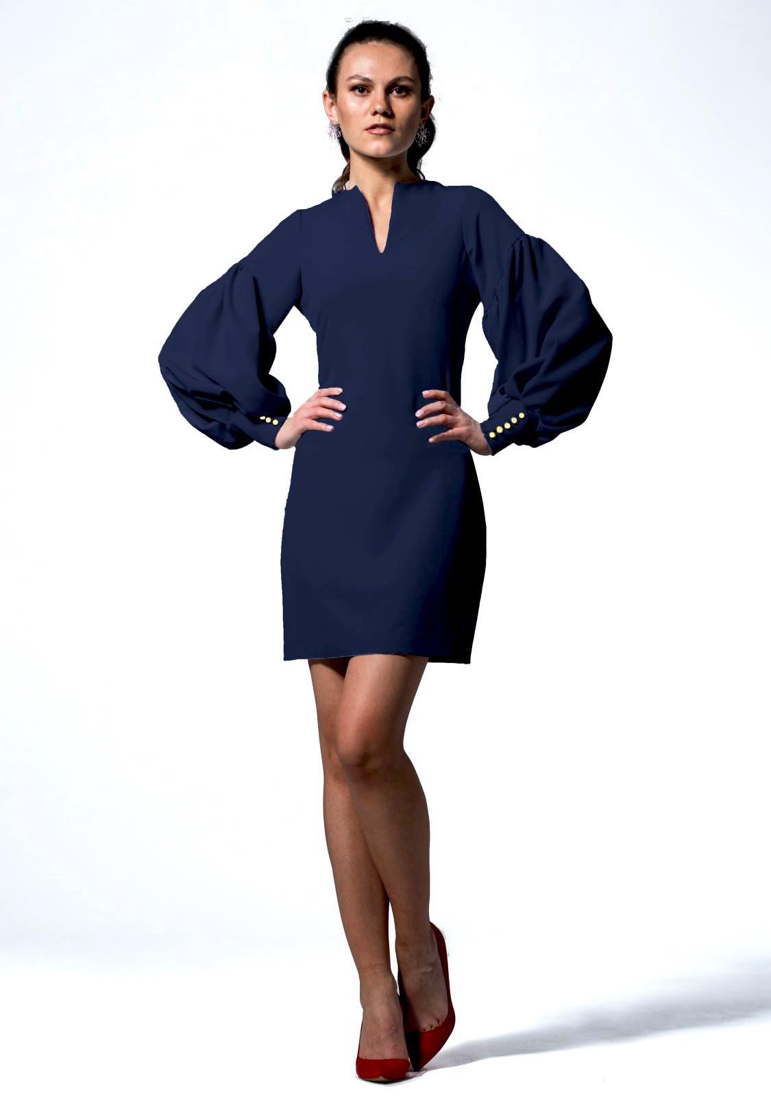KORFE  mini sukienka z szerokim rękawem