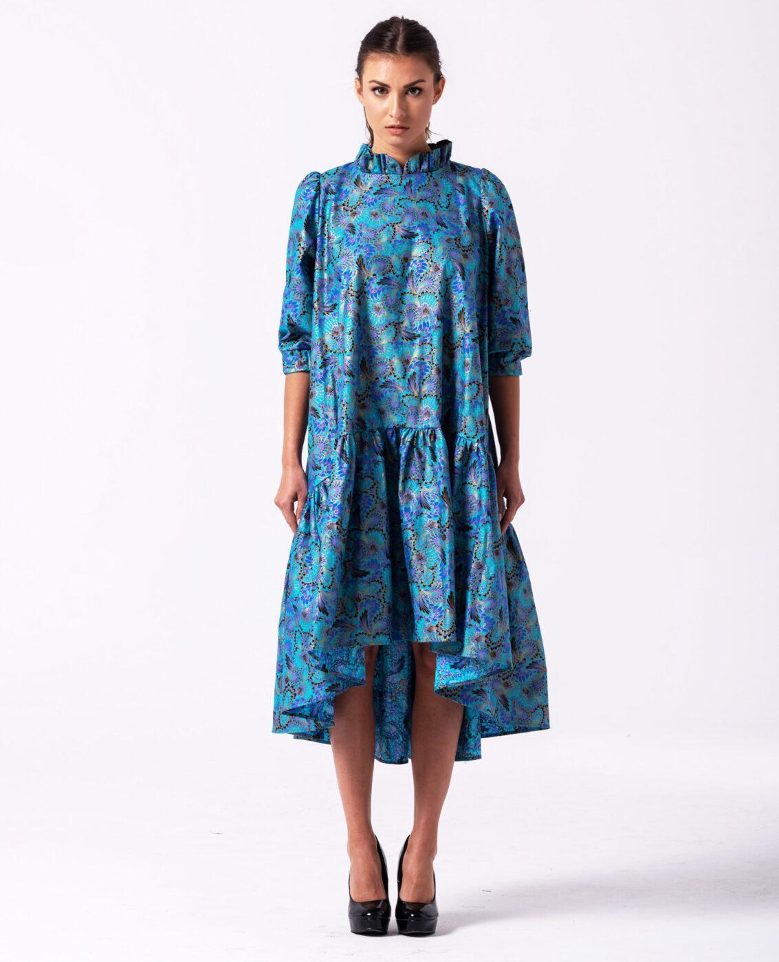 JANYA bawełniana żakardowa sukienka oversize